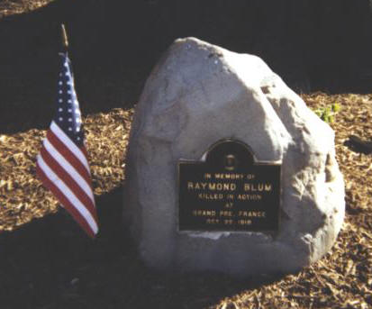 Ray Blum plaque