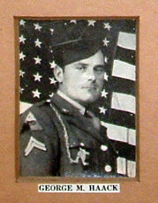 S Sgt. George M. Haack, KIA Sept. 8, 1944. Of Nutley, N.J.