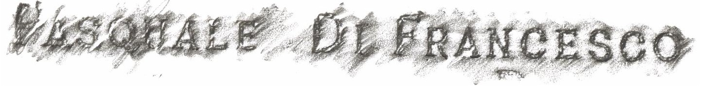 Crayon rubbing of name from memorial plaque