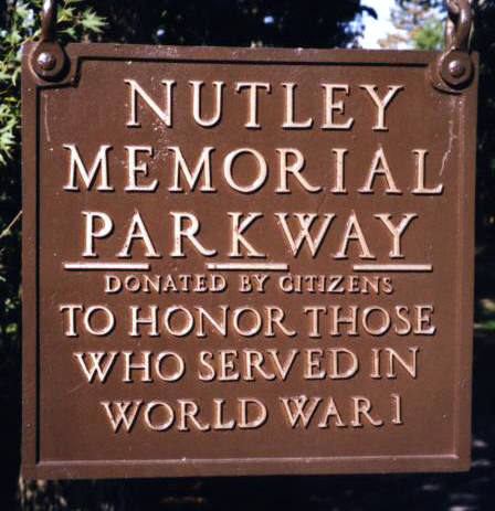 Entrance to memorial park, Nutley, N.J.